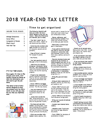 2018 Year end letter